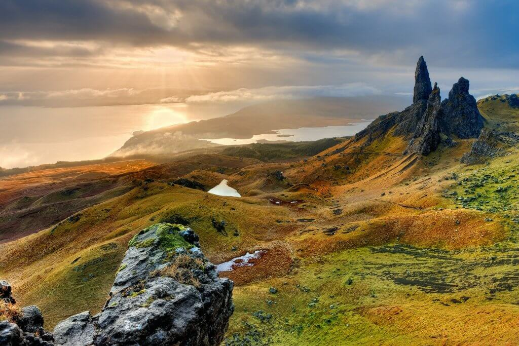 A view of the Isle of Skye, Scotland